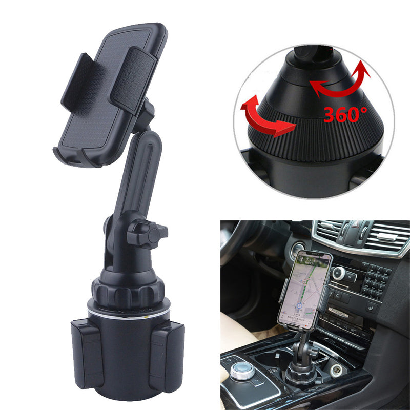 Cup Phone w/ Extended Arm - Universal Phone Cup Holder Mount