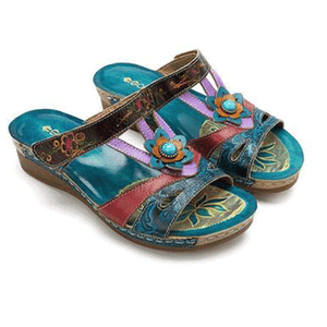 Ethnic wind flower sandals
