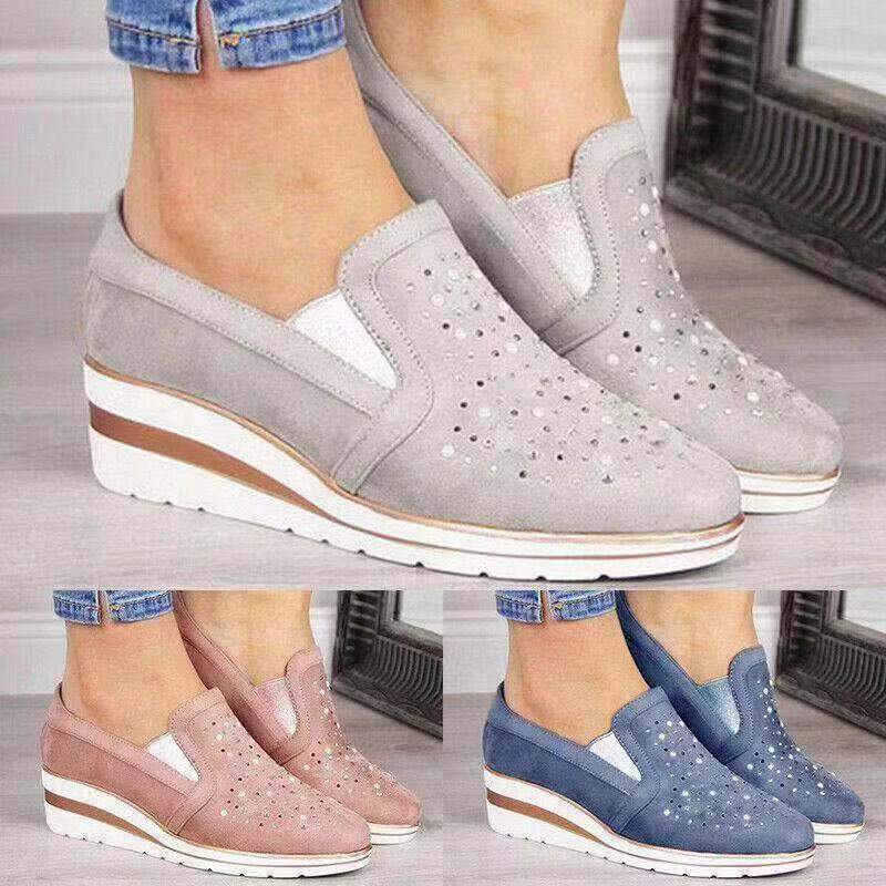 🔥40% OFF Christmas Sale🔥Women Shining Casual Slip-on Sneaker Shoes