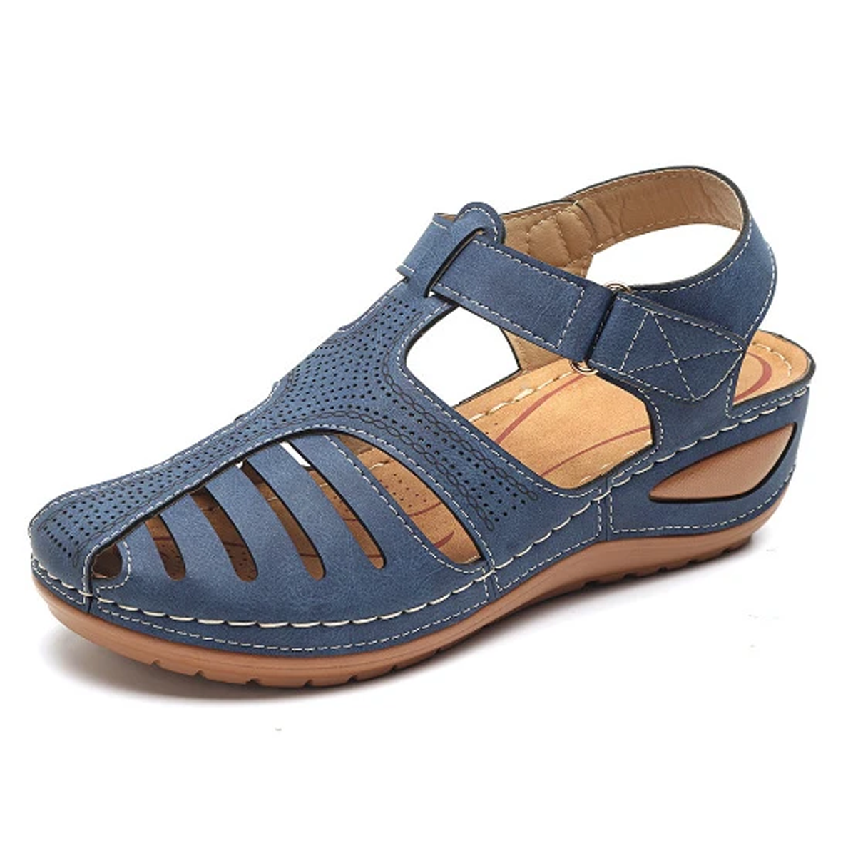 FLASH DEALS - RETRO NON-SLIP ROUND TOE WEDGE SANDALS