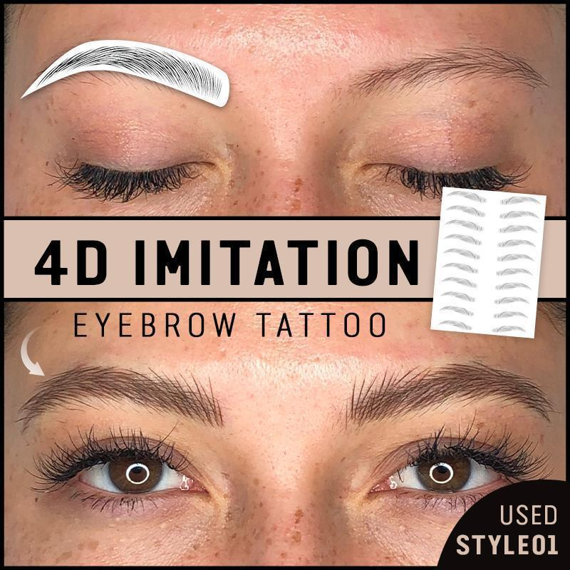 10 PAIRS 4D Imitation Eyebrow Tattoos