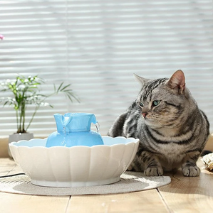 Ceramic Pet Drinking Fountain, Way Better Than Plastic