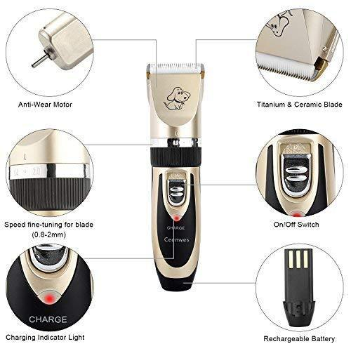 (50% OFF TODAY)Low Noise Pet Clippers Rechargeable