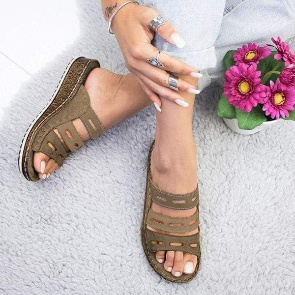 2020 Three-color Stitching Women's Spring Summer Sandals