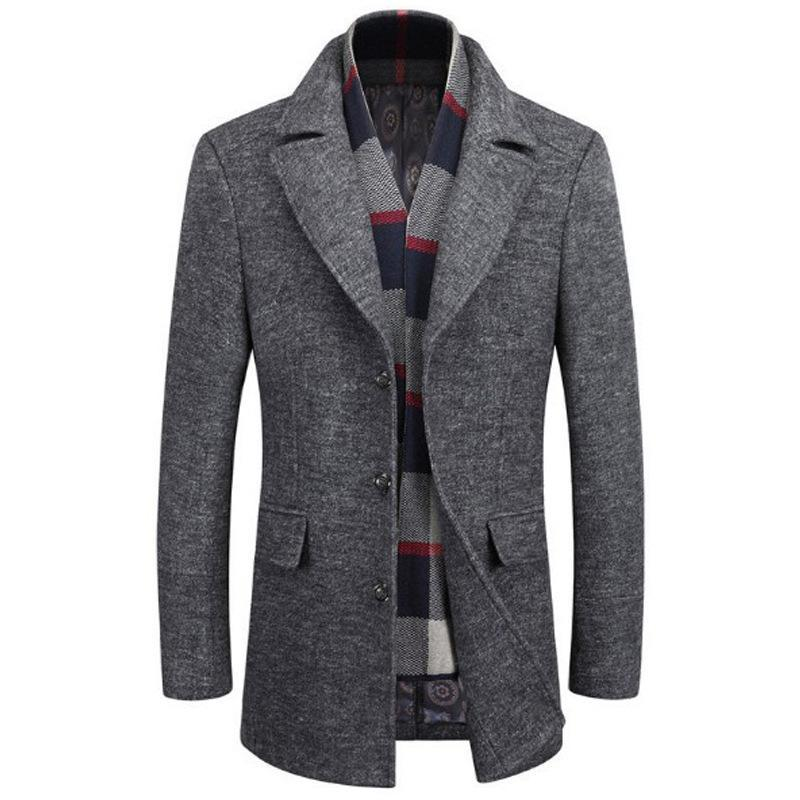 Men's British Style Wool Coat