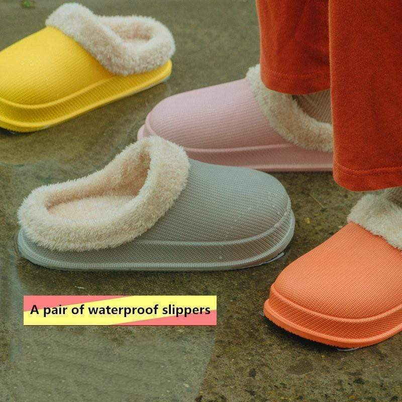 (40% OFF!!!)Waterproof Cotton Slippers