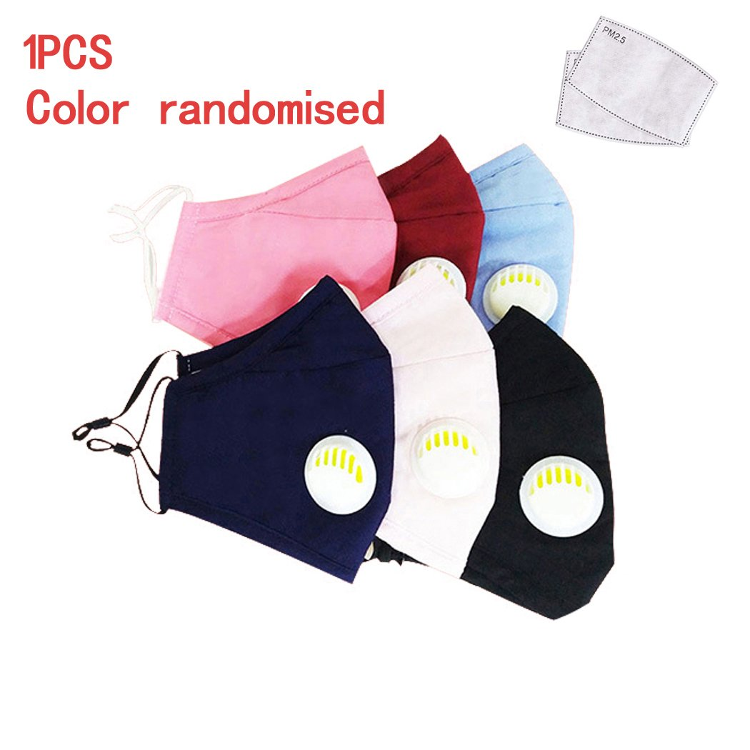 Unisex Cotton PM 2.5 with Breathing Valve Anti-fog Check Face Cover
