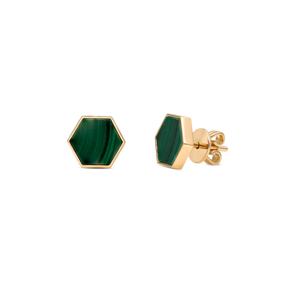 MALACHITE HIVE EARRINGS