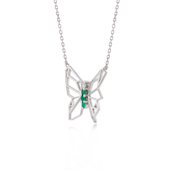 BUTTERFLIES W NECKLACE