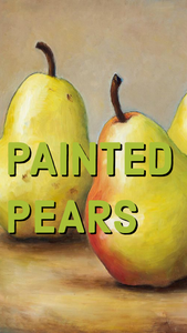 Painted pears