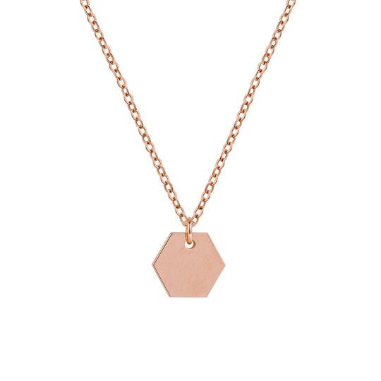 Prysm Hexagon Necklace - RoseGold