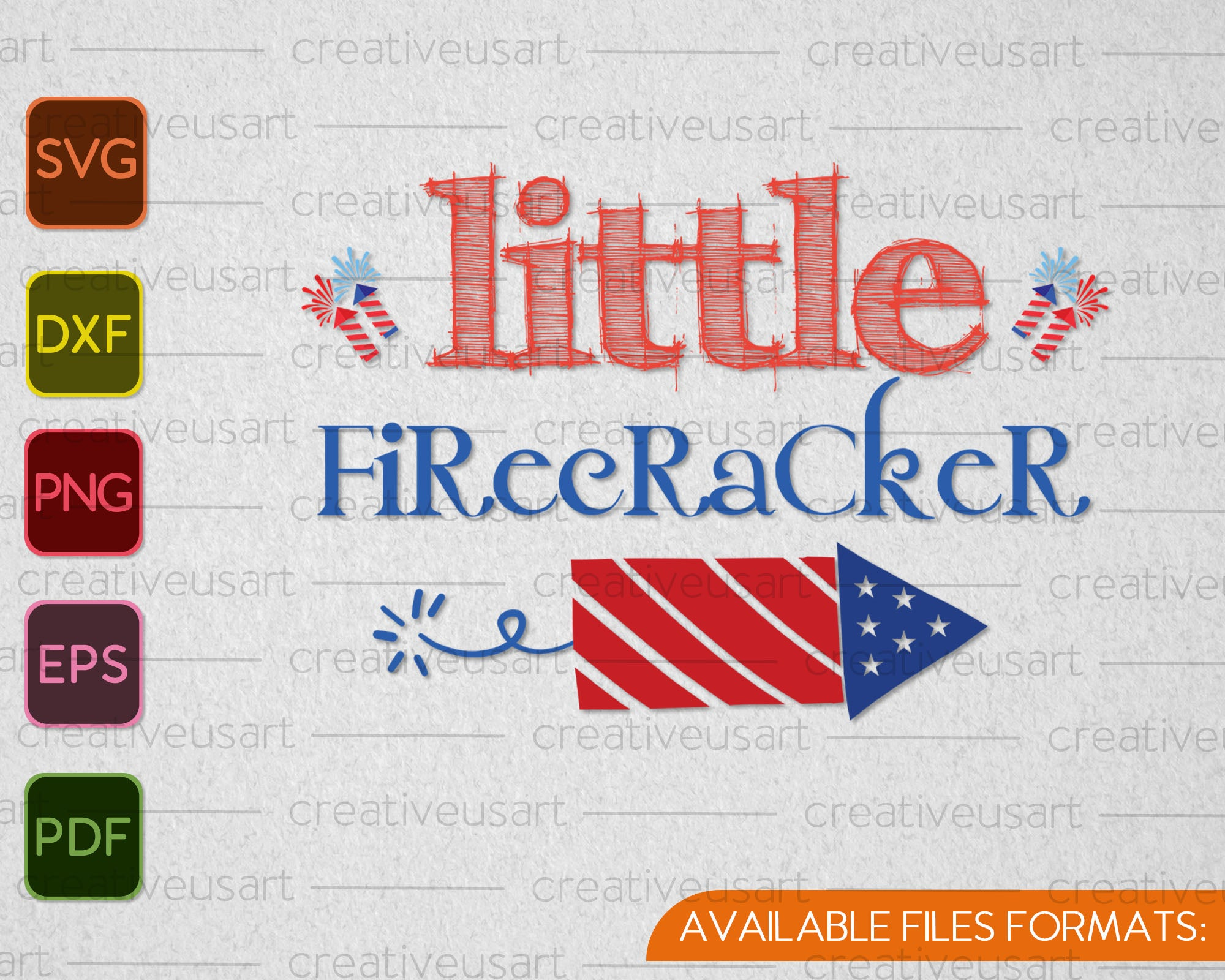 Little Firecracker 4th Of July Svg Png Cutting Printable Files Creativeusart