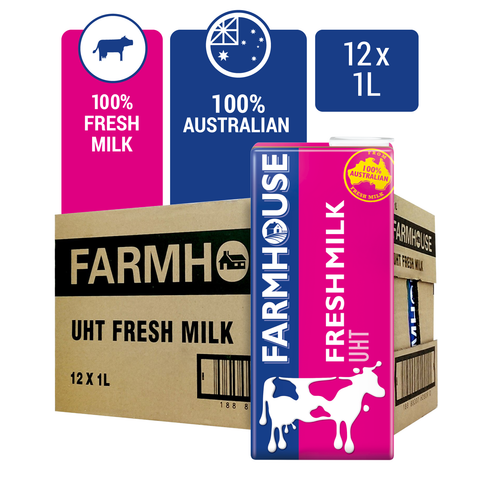 1151178-FARMHOUSE UHT Fresh Milk 1L x 12
