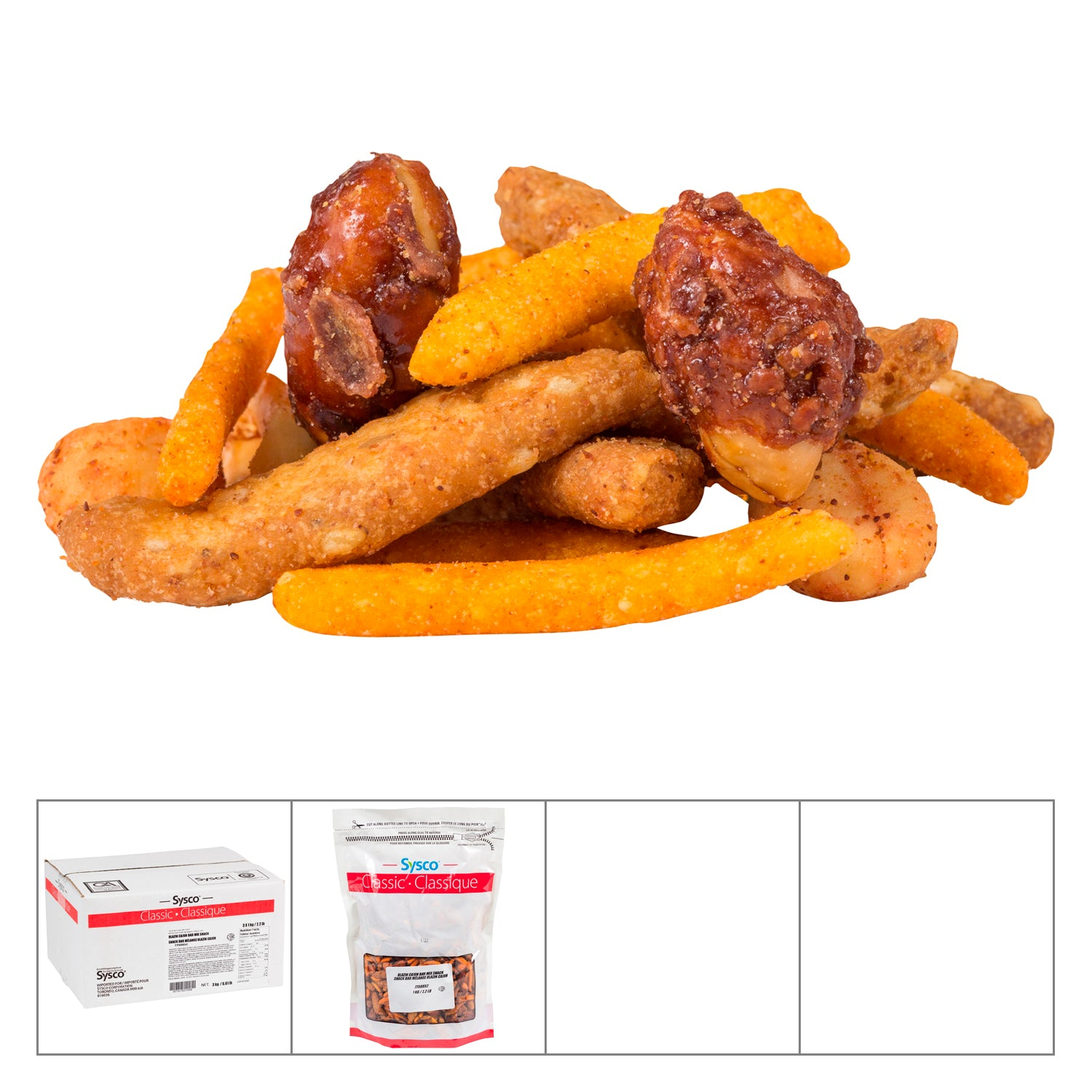 Sysco Classic Cajun Snack Mix 1 kg - 3 Pack [$11.66/kg]