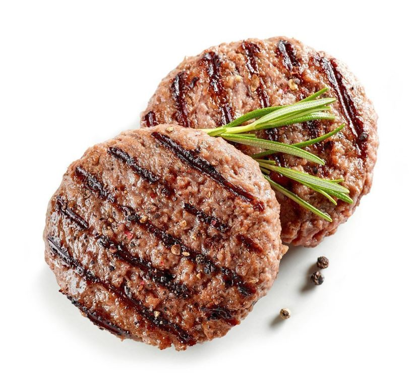 Fire River Farms Frozen Homestyle Beef Burger 4 oz - 80 Pack [$1.44/each]