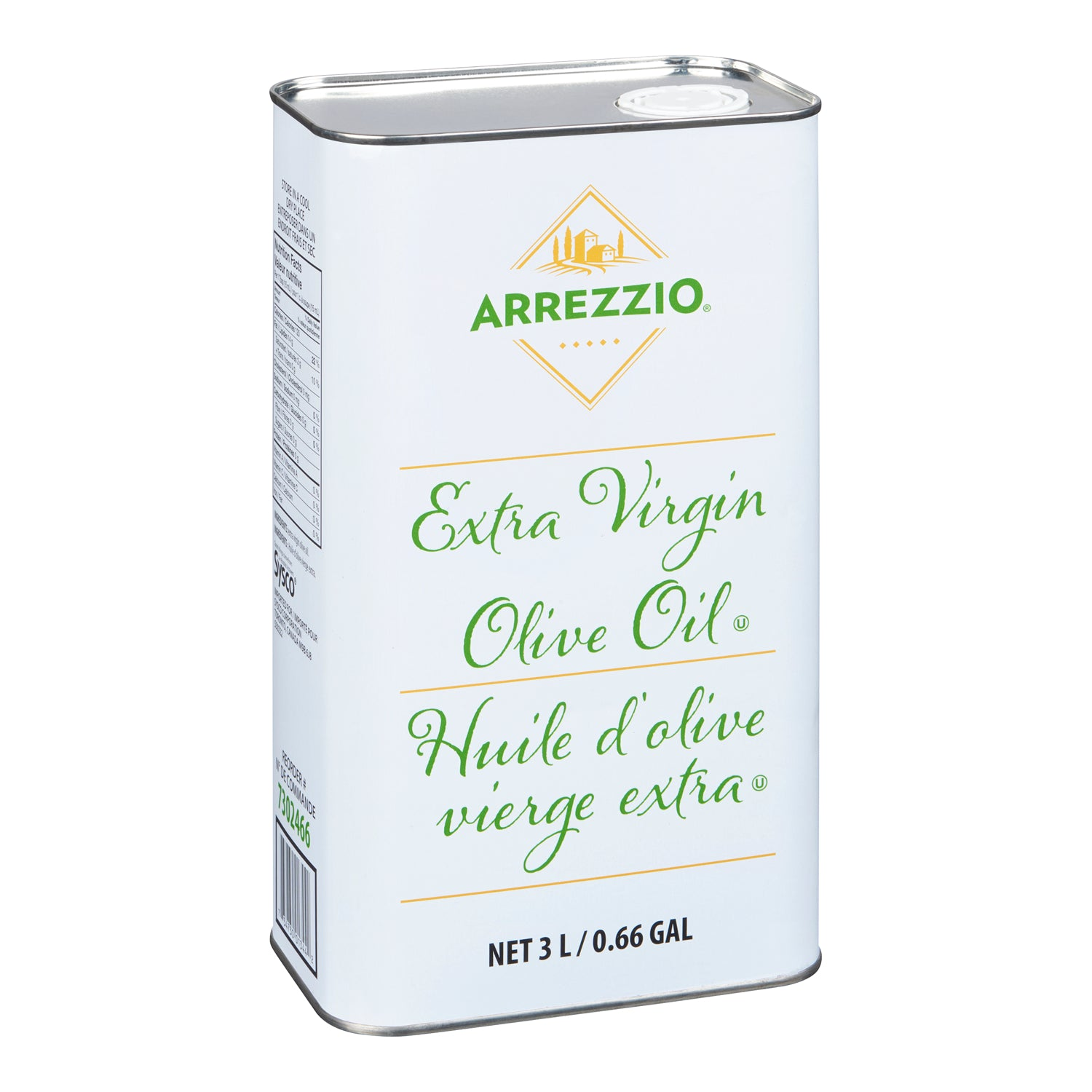 Arrezzio Extra Virgin Olive Oil 3 L - 1 Pack [$9.16/litre]