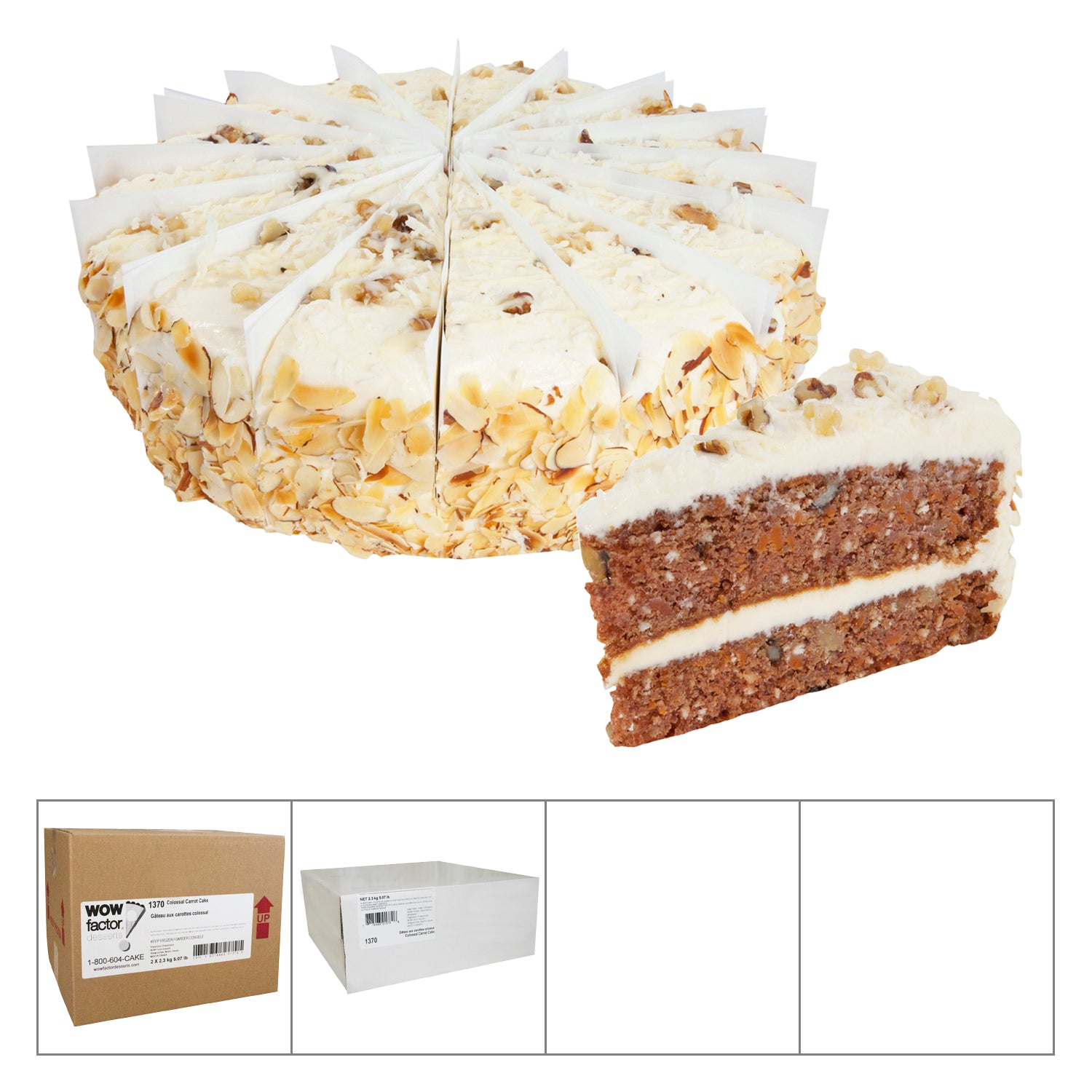 "WOW Factor Frozen Colossal Carrot Cake 10"""" - 2 Pack [$45.00/each]"