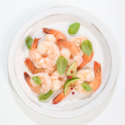 Sysco Portico Frozen Raw Extra Large White Shrimp Peeled & Deveined With Tail On (26-30 shrimp per lb) 2.5 lb - 2 Pack [$8.00/lb]