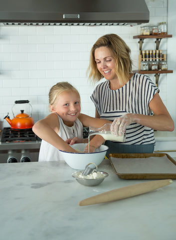 Carrie Bailey Morey in the Kitchen with Her Daughter