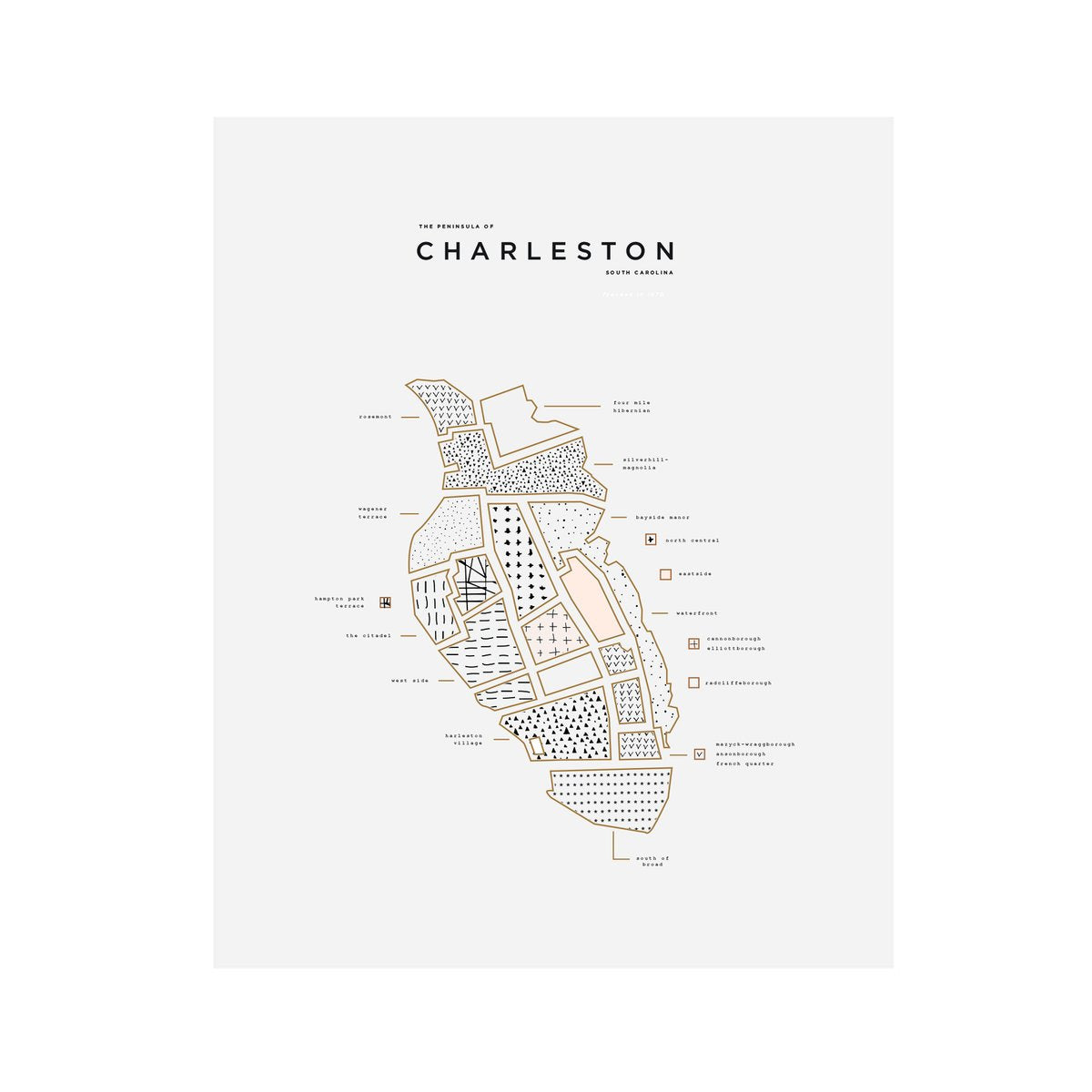 "42 Pressed ""Roam"" Charleston City Print"