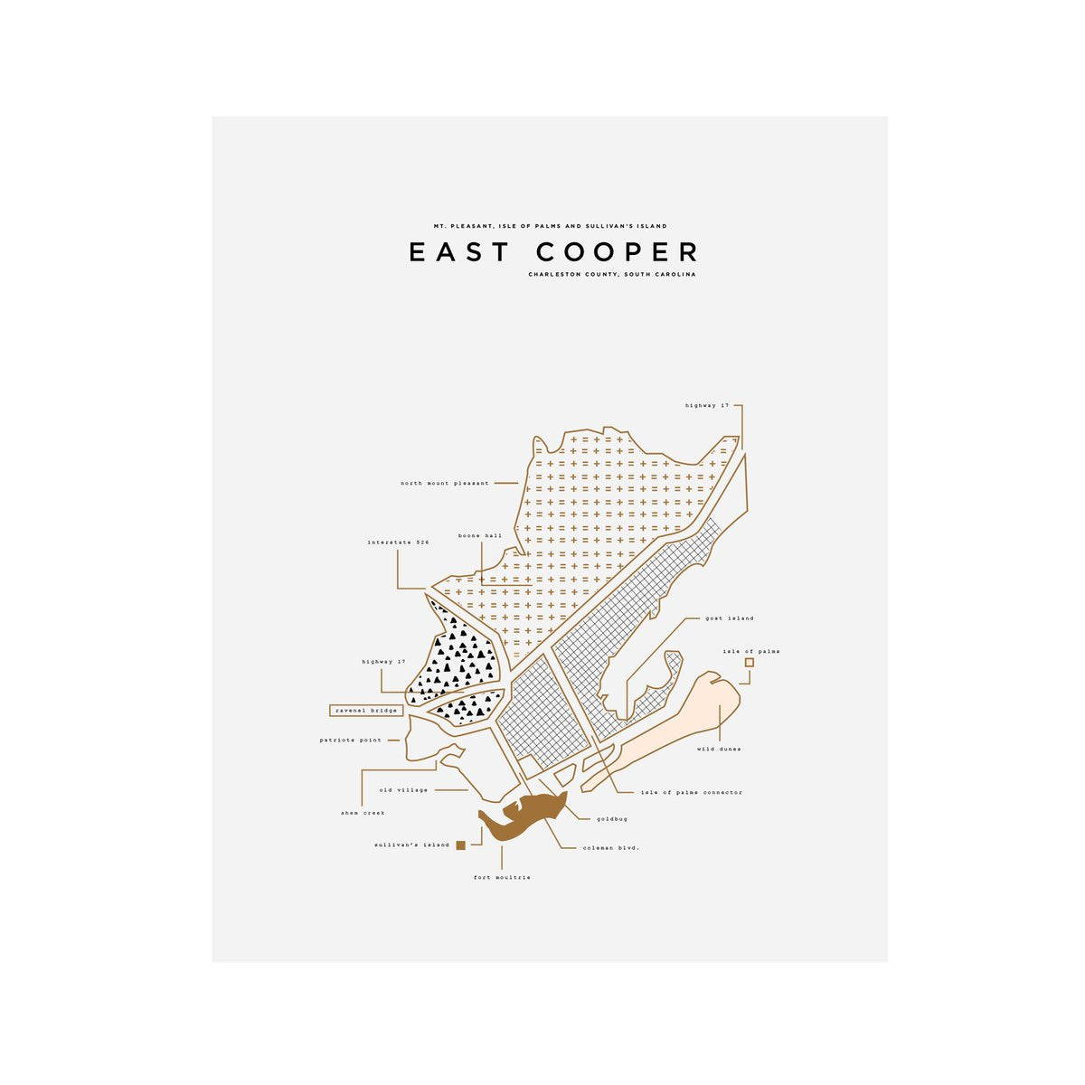 "42 Pressed ""Roam"" East Cooper City Print"