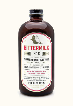 Bittermilk No.5: Charred Grapefruit Tonic with Bulls Bay Sea Salt