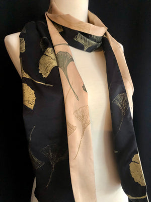 Paige Hathaway Black and Camel Silk Wrap