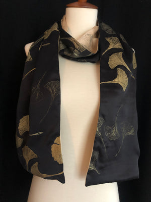 Paige Hathaway Thorn Black & Camel Small Silk Scarf