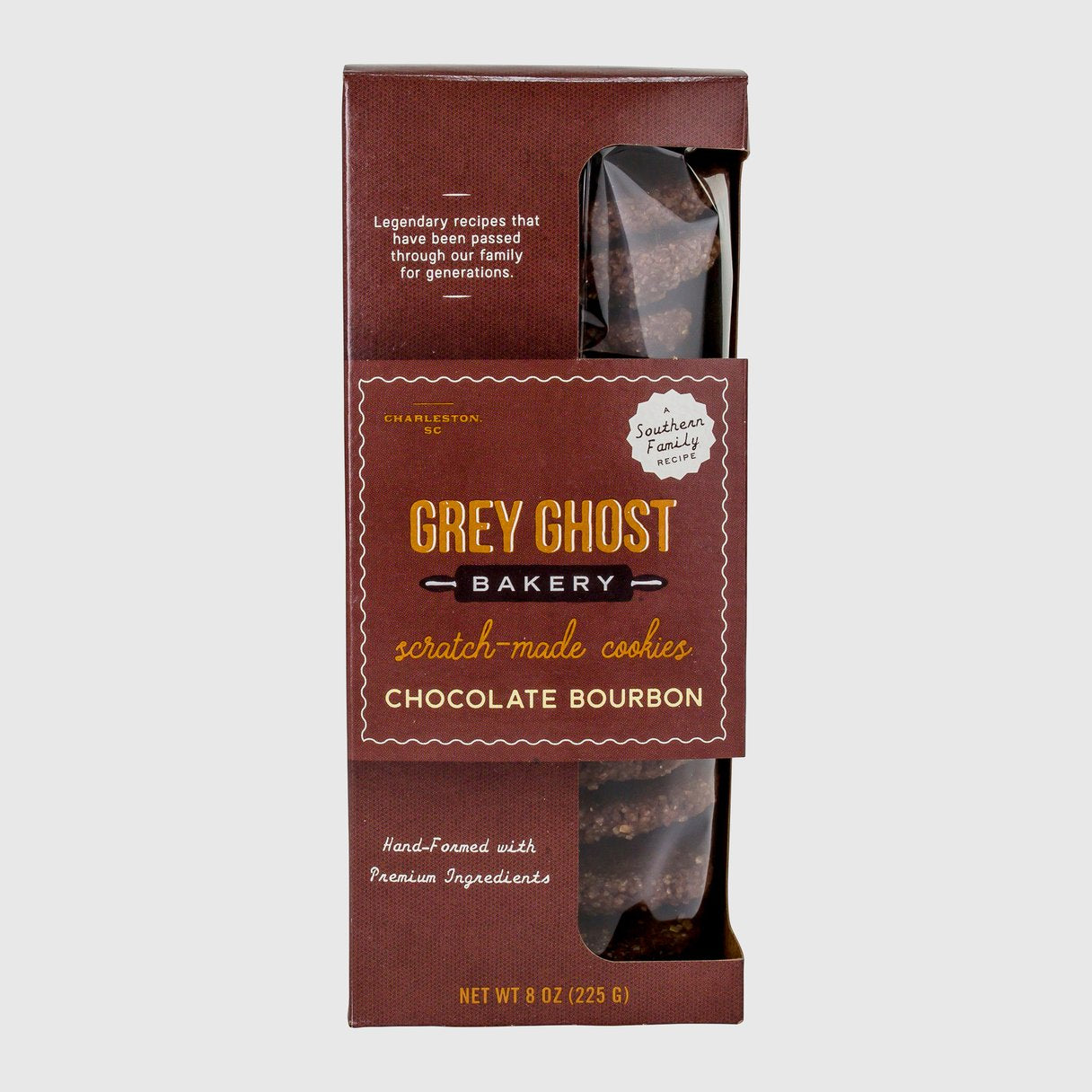 Grey Ghost Chocolate Bourbon Cookies