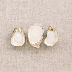 Terrific Trio: Grit & Grace Oyster Candle, Decoupage Oyster Shell Ornament & Cheers Matches
