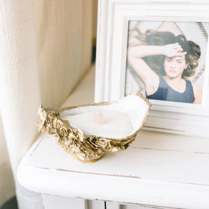 Grit & Grace Oyster Shell Candle