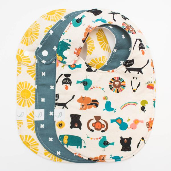 Hemming Birds Charlie Bib Set of 3 (Sunny Day + Indigo X + Animal Parade)