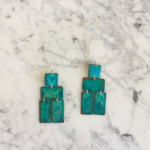 Indigo Bee Co. Oxidized Copper Nomadic Earrings