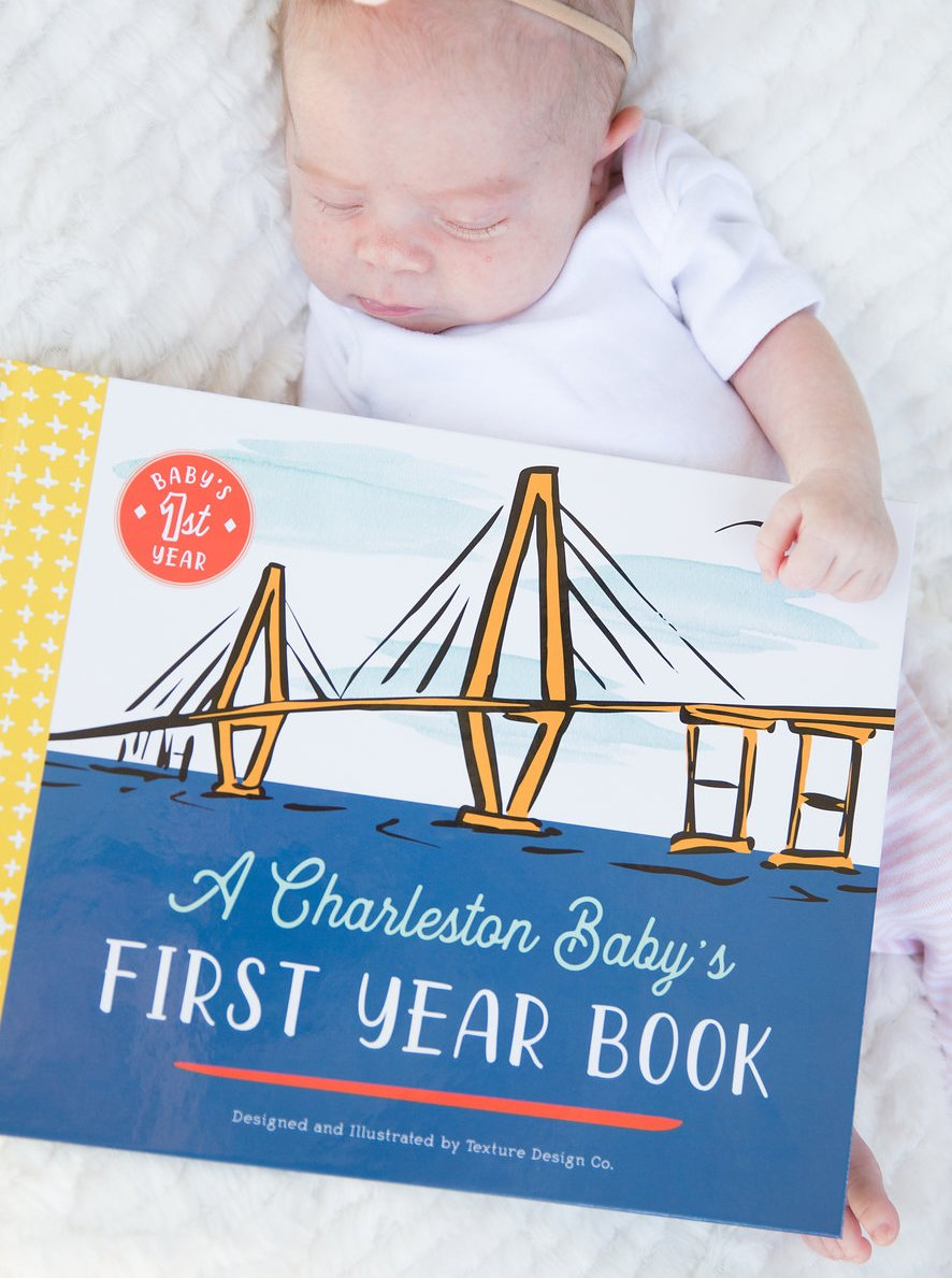 A Charleston Baby's First Year Book by Texture Design Co.