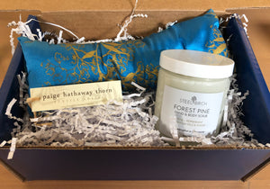 Paige Hathaway Thorn Silk Eye Pillow + Steel Birch Peppermint Scrub