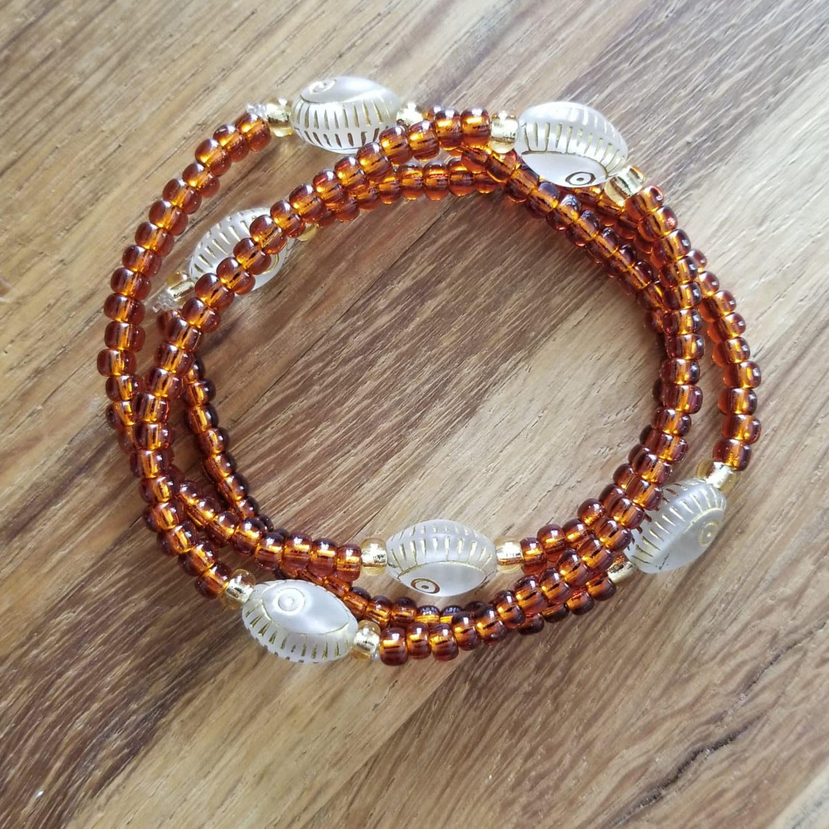 Evil Eye Stacking Bracelets Rust