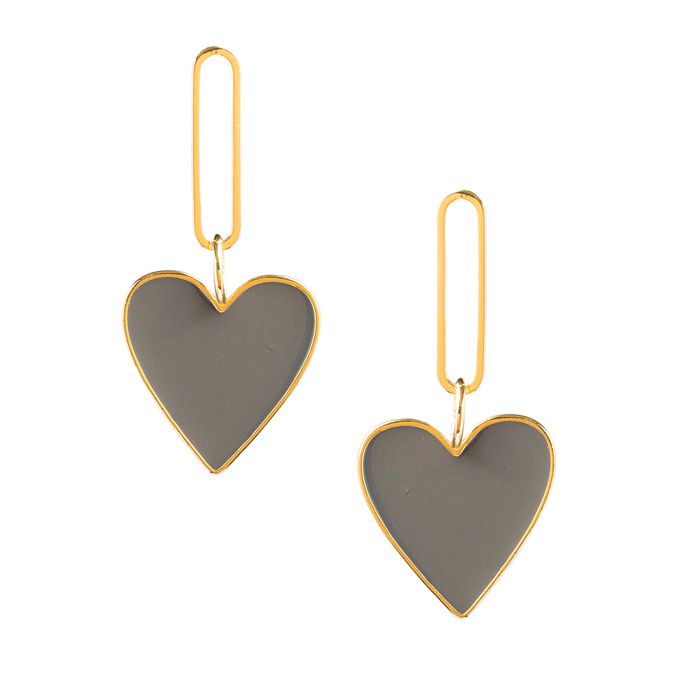 Hearts on Fire Gray Earrings