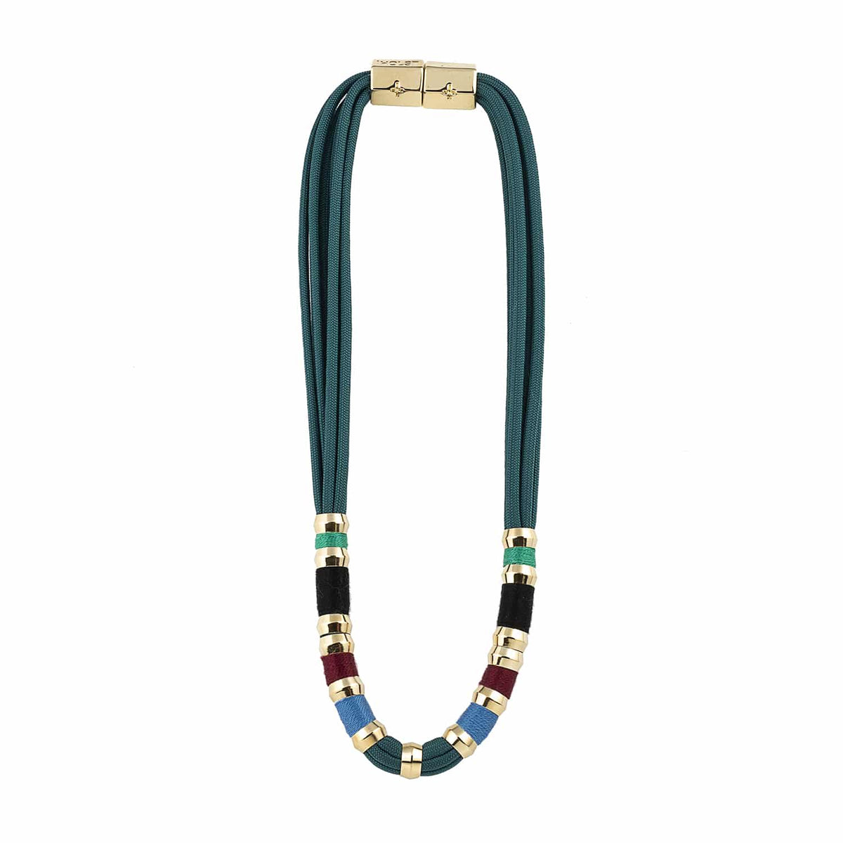 Colorblock Teal Sea Necklace