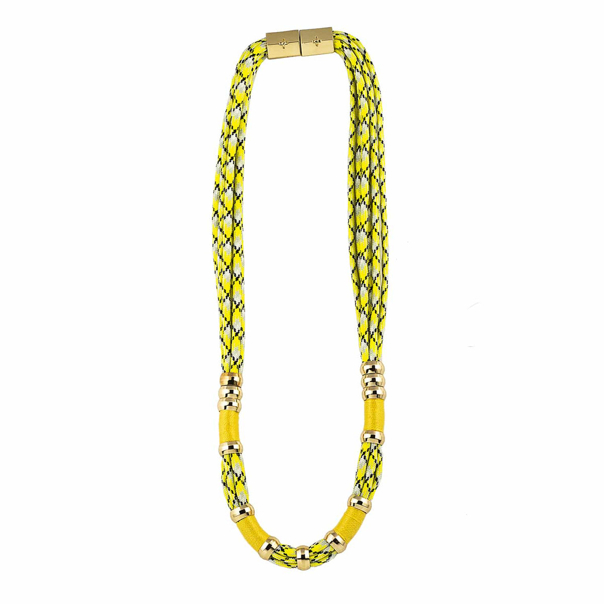 Colorblock Neon Yellow Necklace