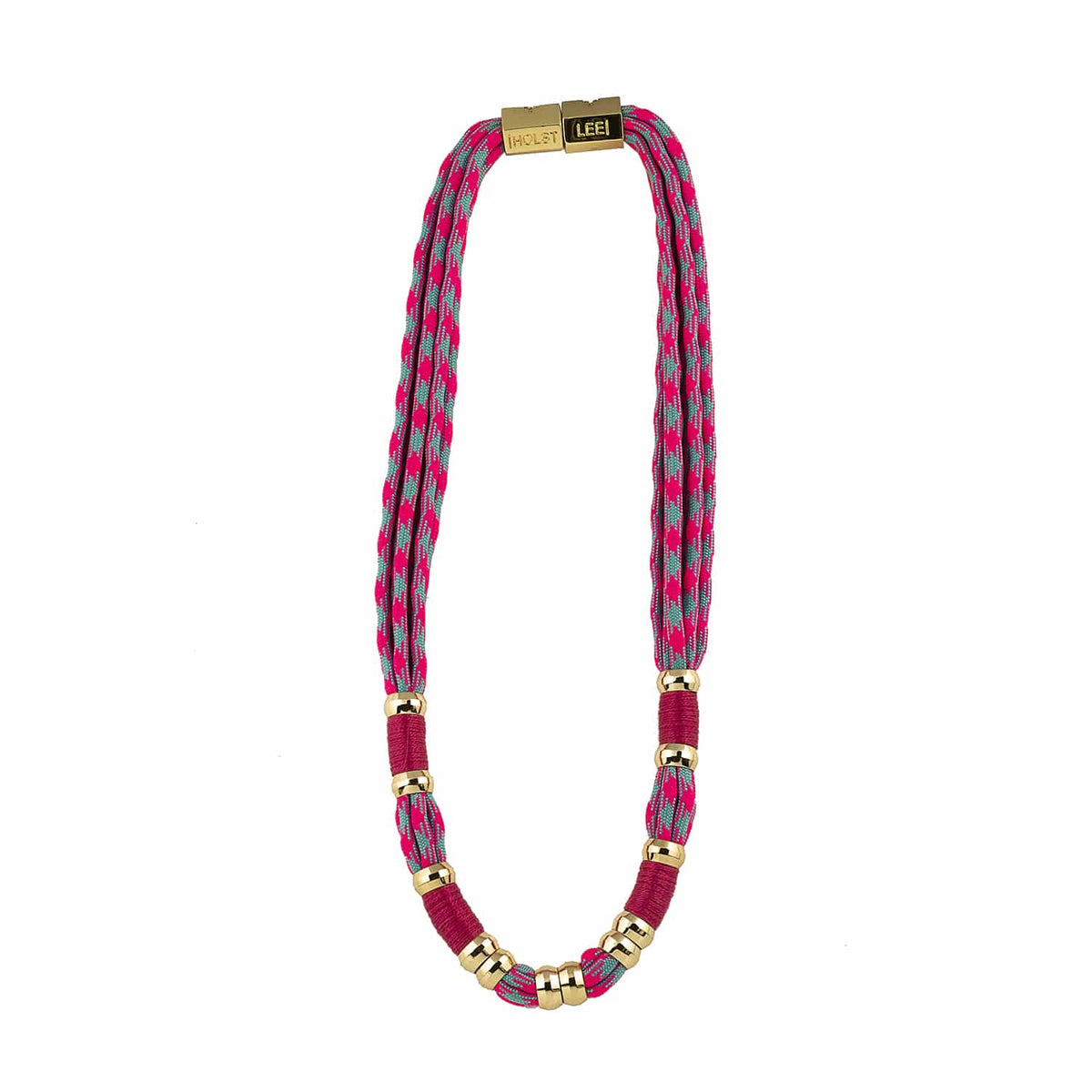 Colorblock Neon Pink Necklace