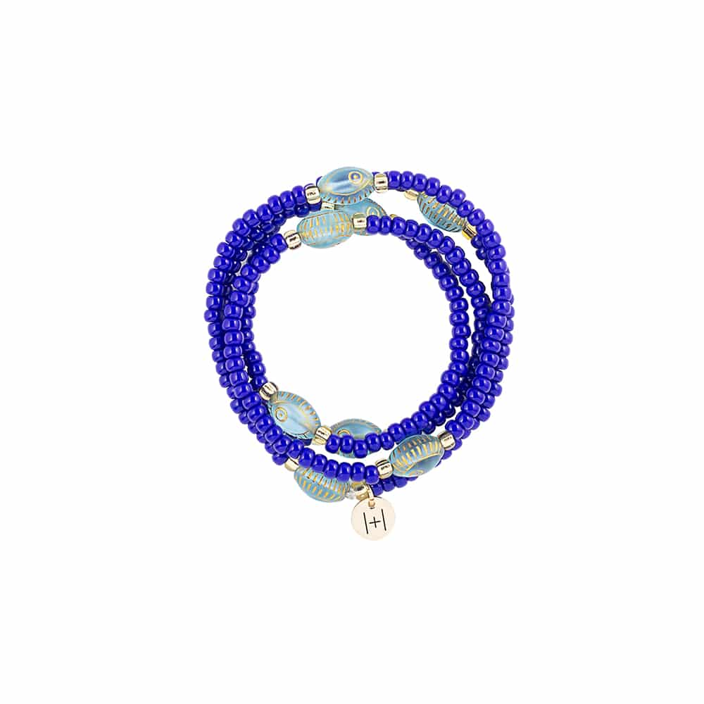 Evil Eye Wrapping Deep Blue Necklace/Bracelet