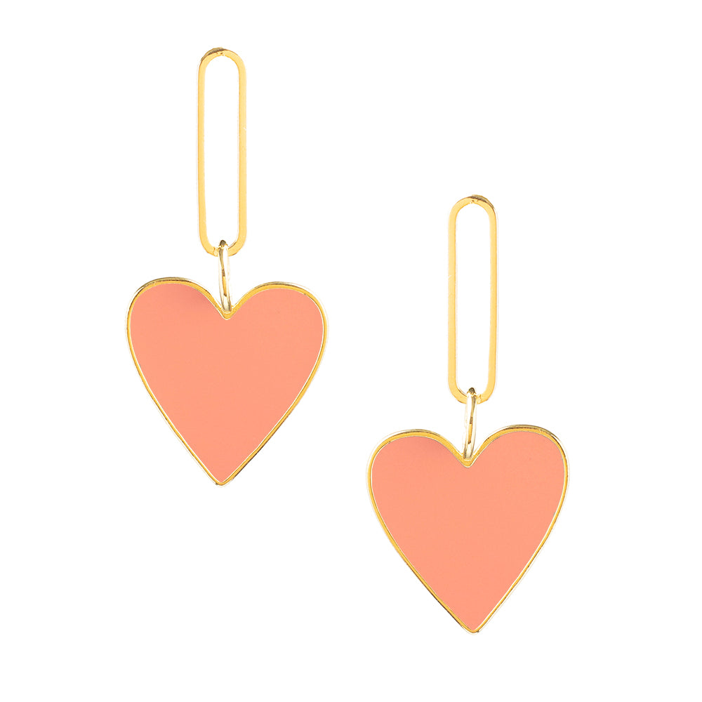 Hearts on Fire Coral Earrings