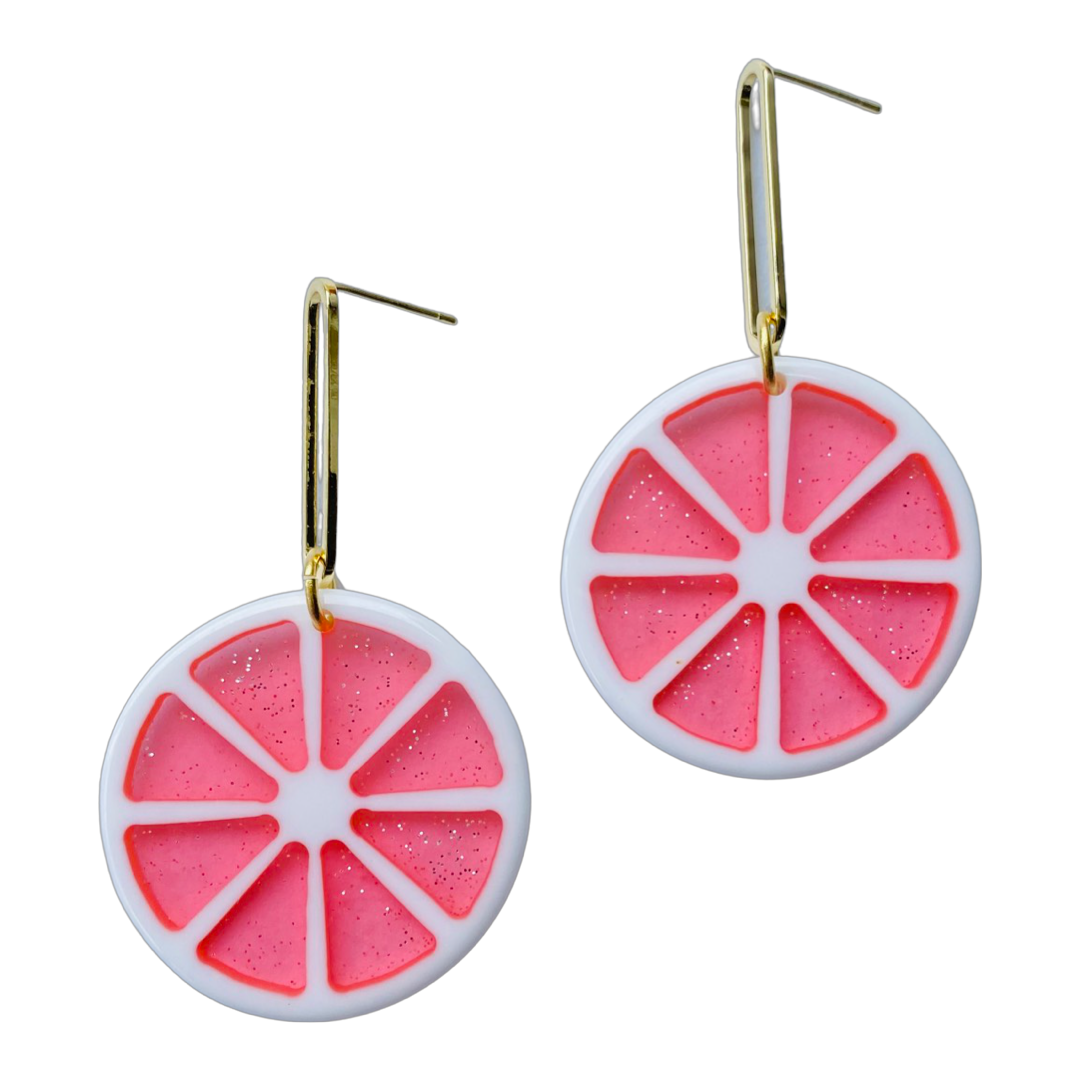 Fruit Slice Grapefruit Earrings