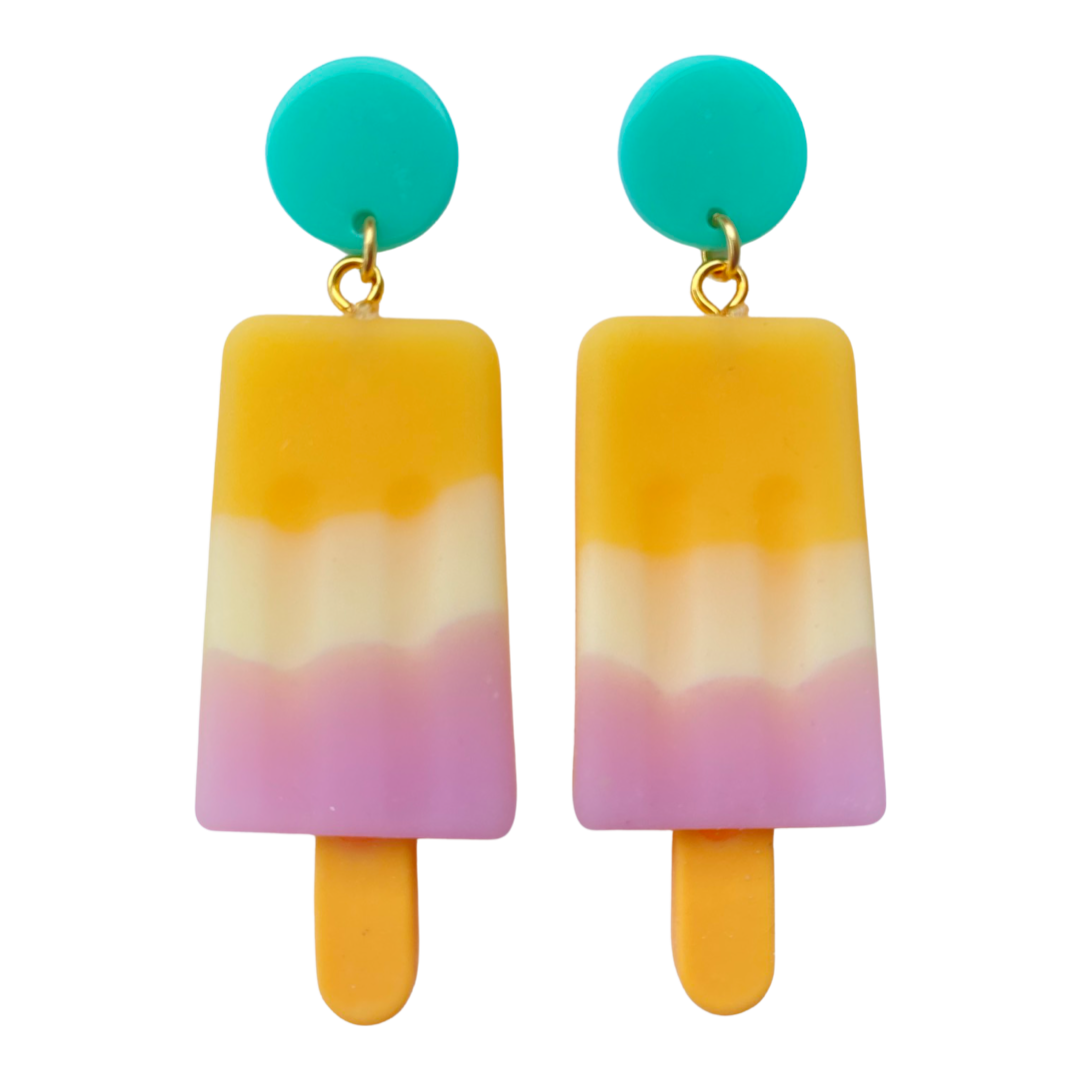 Large Popsicle Creamsicle Earrings