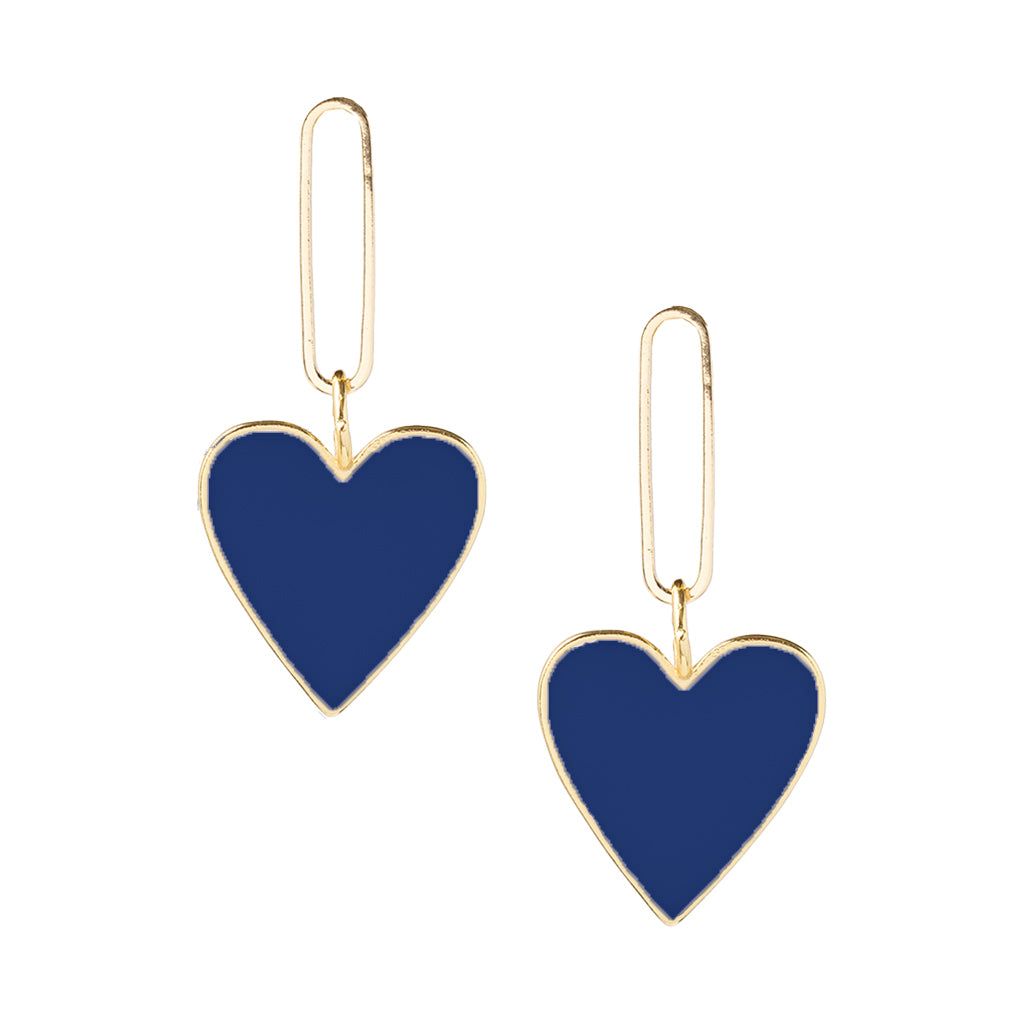 Hearts on Fire Navy Earrings