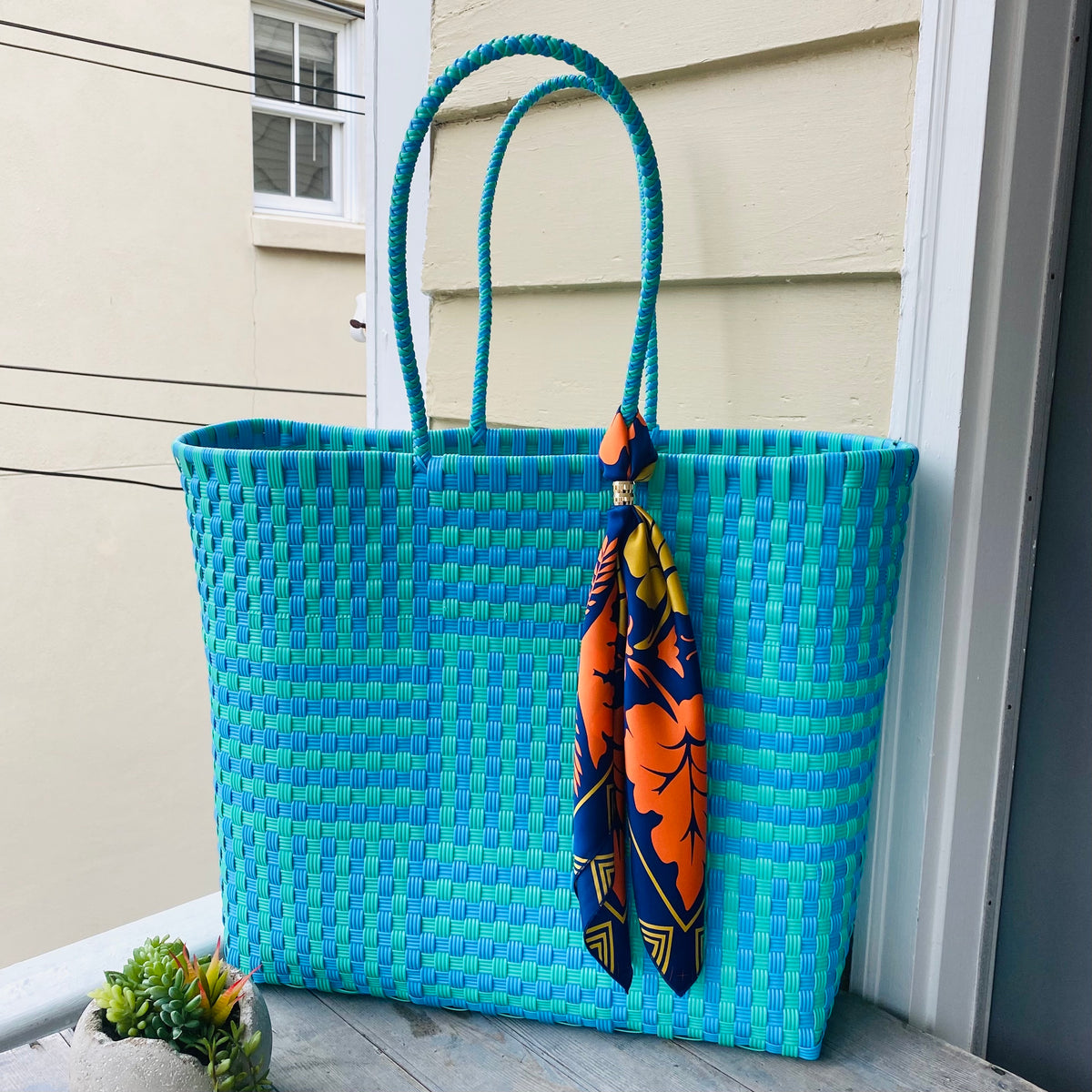 Blue and Turquoise Ultimate Beach Bag