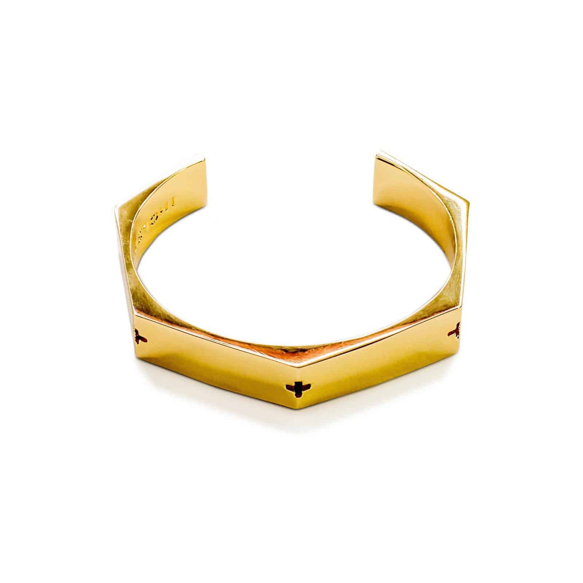 Metal Gold Thick Bracelet