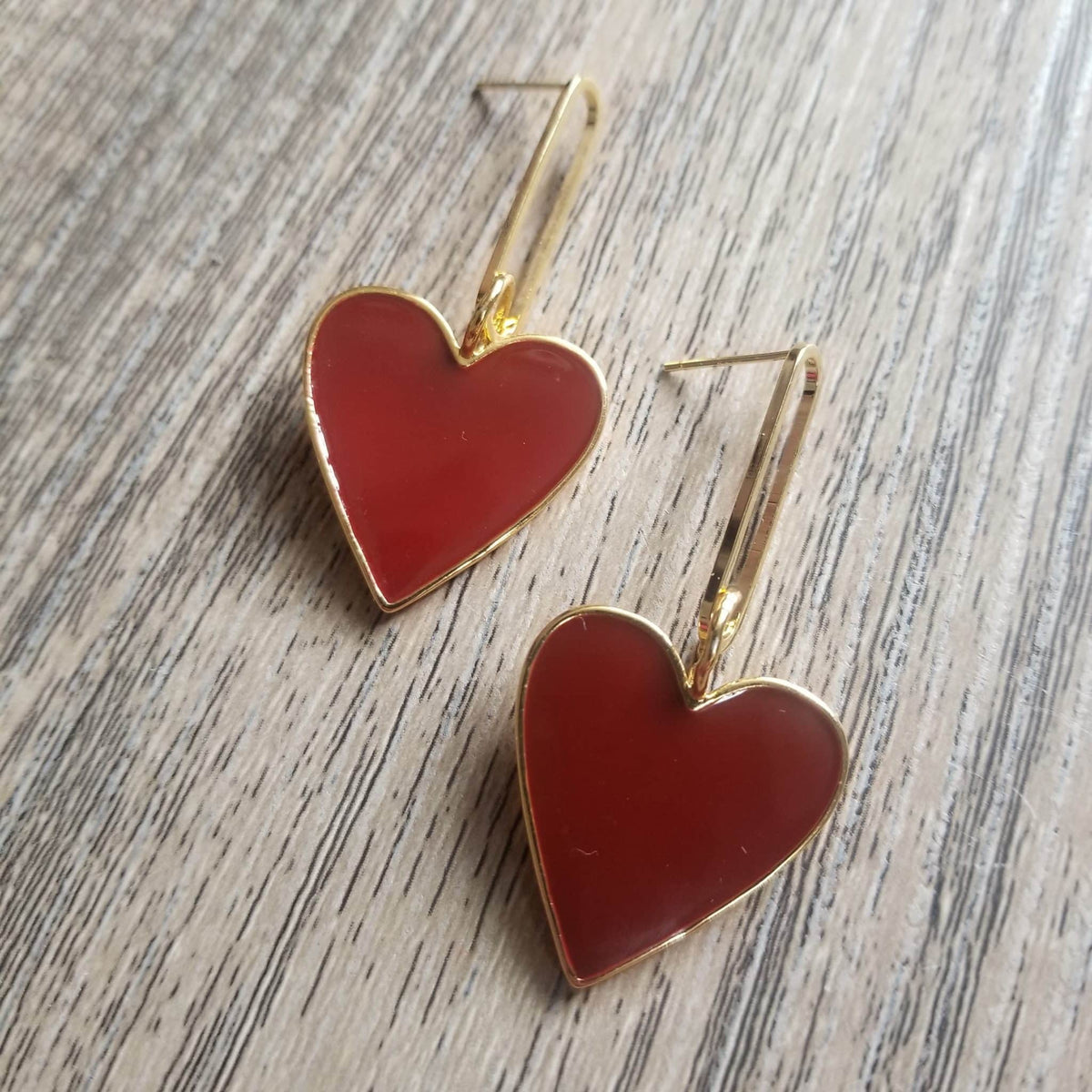Hearts on Fire Deep Red Earrings
