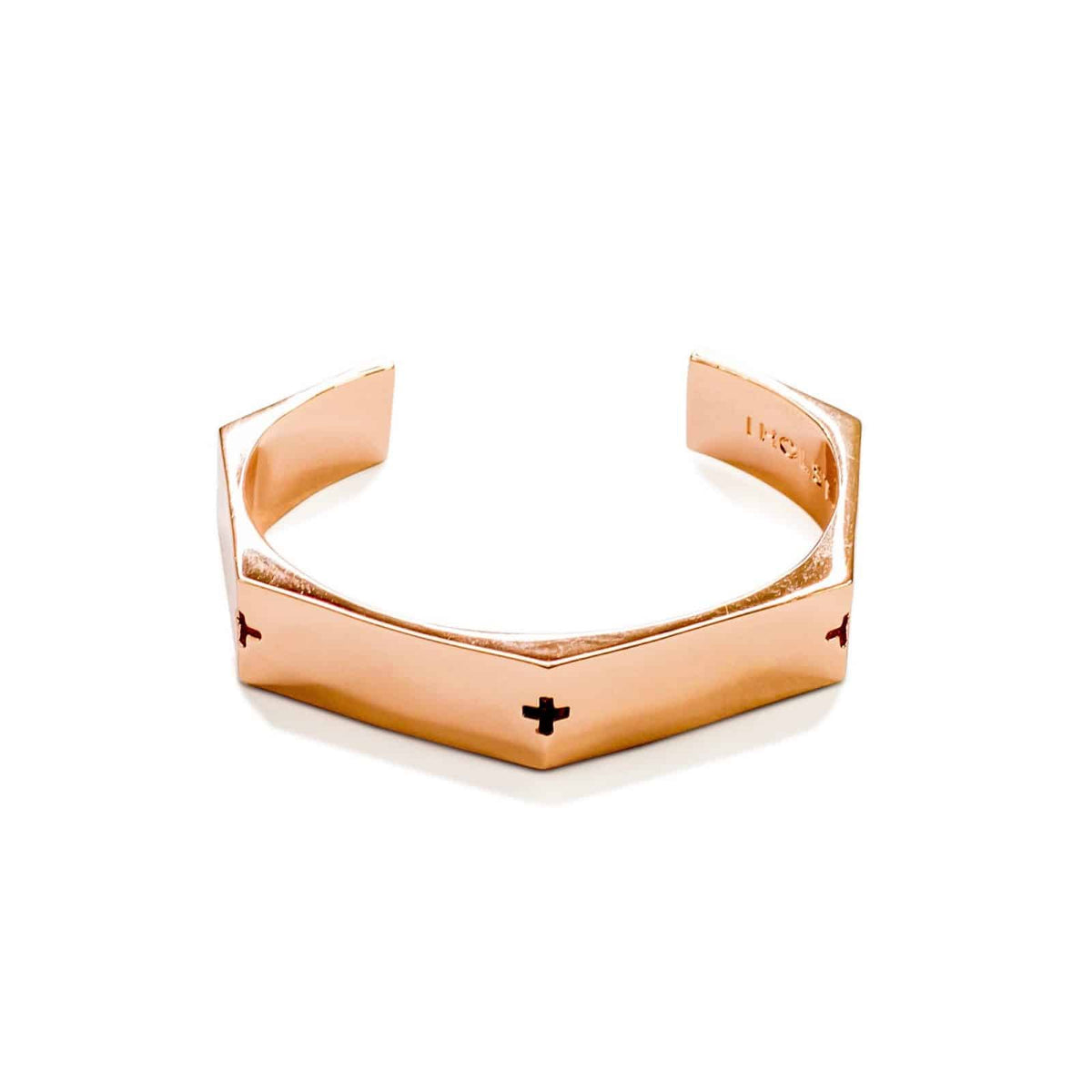 Metal Rose Gold Thick Bracelet