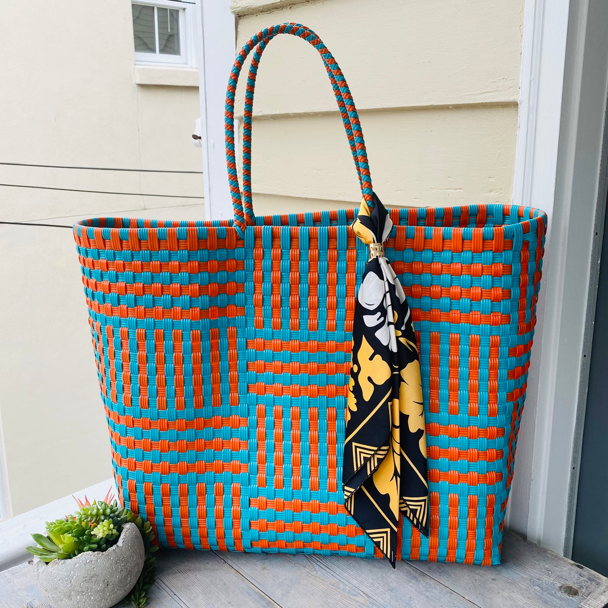 Orange and Turquoise Ultimate Beach Bag
